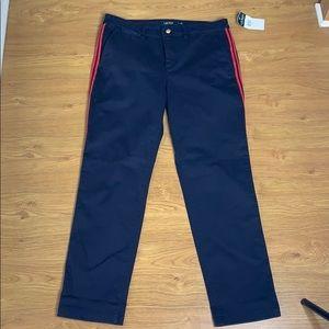 Ralph Lauren Navy Blue and Red Dress Pants Size 10